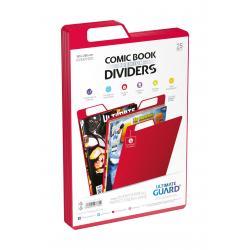 Ultimate Guard Premium Comic Book Dividers Separadores para Cómics Rojo (25) - Imagen 1