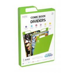 Ultimate Guard Premium Comic Book Dividers Separadores para Cómics Verde (25) - Imagen 1