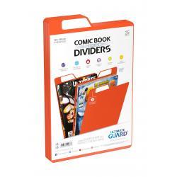 Ultimate Guard Premium Comic Book Dividers Separadores para Cómics Naranja (25) - Imagen 1