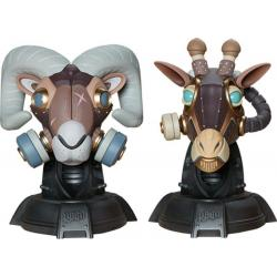 Unruly Designer Series Bustos Ram and Giraffe Guerilla Squadron Set by Freehand Profit 23 cm - Imagen 1