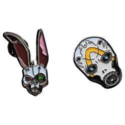Borderlands Pack de 2 Pins Bunny & Psycho Mask - Imagen 1