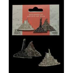 El Señor de los Anillos Pack de 2 Pins Minas Tirith & Mt. Doom - Imagen 1