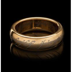 El Señor de los Anillos Anillo Único de tungsteno (dorado) Size 10 - Imagen 1