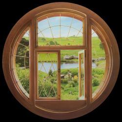 El Hobbit Pegatina Vinilo Hobbit Window - Imagen 1