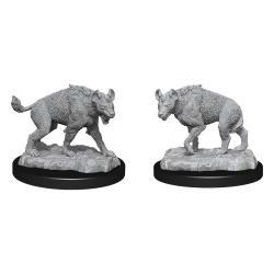 WizKids Deep Cuts Miniaturas sin pintar Hyenas Caja (6) - Imagen 1
