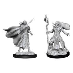 Magic the Gathering Miniaturas sin pintar Elf Fighter & Elf Cleric Caja (6) - Imagen 1