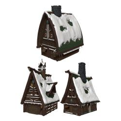 D&D Icons of the Realms Icewind Dale: Rime of the Frostmaiden Set de Papercraft Ten Towns - Imagen 1