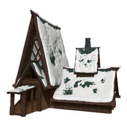 D&D Icons of the Realms Icewind Dale: Rime of the Frostmaiden Set de Papercraft The Lodge - Imagen 1