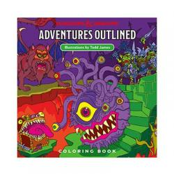 Dungeons & Dragons Adventures Outlined Libro para colorear - Imagen 1