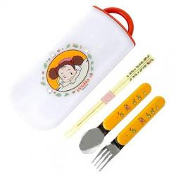 Estuche palillos + cuchara + tenedor Mei Mi Vecino Totoro - Imagen 1