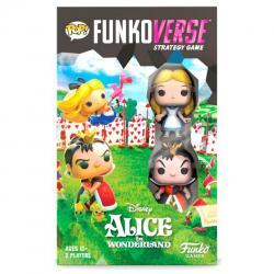 Juego mesa Ingles POP Funkoverse Alice in Wonderland Disney 2fig - Imagen 1