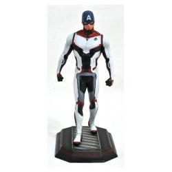 Vengadores Endgame Marvel Movie Gallery Estatua Team Suit Captain America Exclusive 23 cm --- DAMAGED PACKAGING - Imagen 1