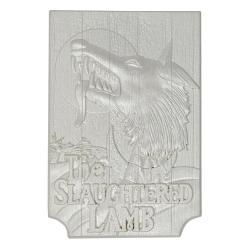 Un hombre lobo americano en Londres Réplica Slaughtered Lamb Pub Sign (plateado) - Imagen 1