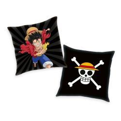 One Piece almohada Skull & Monkey D. Luffy 40 x 40 cm - Imagen 1