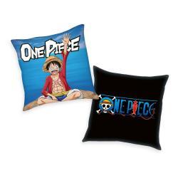 One Piece almohada Logo & Monkey D. Luffy 40 x 40 cm - Imagen 1