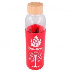 Botella cristal El Señor de los Anillos funda silicona 585ml - Imagen 1