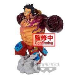 One Piece Estatua BWFC 3 Super Master Stars Piece Monkey D. Luffy Gear4 The Brush 22 cm - Imagen 1