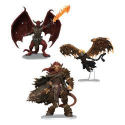 D&D Icons of the Realms Miniaturas prepintadas Archdevils - Bael, Bel, and Zariel - Imagen 1
