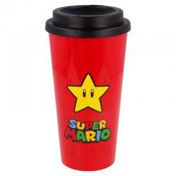 Vaso cafe doble pared Super Mario Bros Nintendo 520ml - Imagen 1