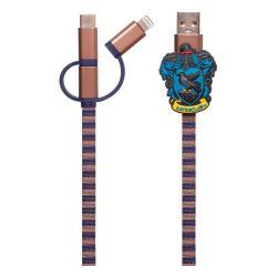 Harry Potter Cable de carga 3in1 Hogwarts Scarf Ravenclaw - Imagen 1