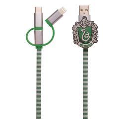 Harry Potter Cable de carga 3in1 Hogwarts Scarf Slytherin - Imagen 1
