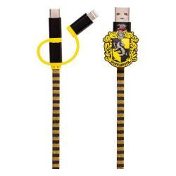 Harry Potter Cable de carga 3in1 Hogwarts Scarf Hufflepuff - Imagen 1