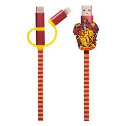 Harry Potter Cable de carga 3in1 Hogwarts Scarf Gryffindor - Imagen 1