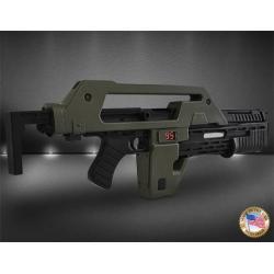 Aliens Replica 1/1 Hero Pulse Rifle OD Green Exclusive 68 cm - Imagen 1