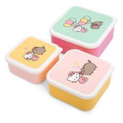 Pusheen Pack de 3 Fiambreras Hello Kitty - Imagen 1