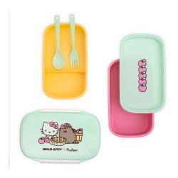 Pusheen Fiambrera Bento Hello Kitty - Imagen 1