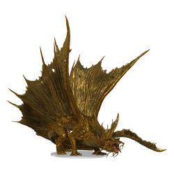 D&D Icons of the Realms Miniatura Premium pre pintado Adult Gold Dragon 25 cm - Imagen 1