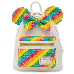 Mochila Rainbow Minnie Disney Loungefly 26cm - Imagen 1