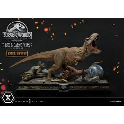 Jurassic World: Fallen Kingdom Estatua 1/15 T-Rex & Carnotaurus Deluxe Version 90 cm - Imagen 1