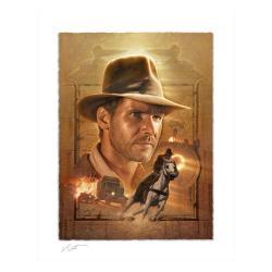 Indiana Jones Litografia Pursuit of the Ark 46 x 58 cm - enmarcado - Imagen 1