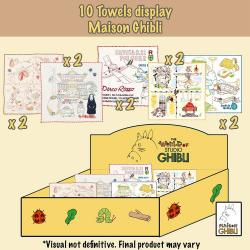 Studio Ghibli Mini Toallas Expositor 25 x 25 cm (10) - Imagen 1