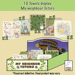 Mi vecino Totoro Mini Toallas Expositor 25 x 25 cm (10) - Imagen 1