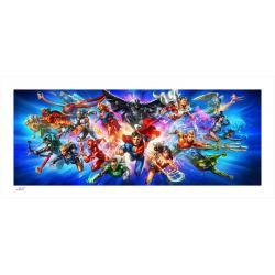DC Comics Litografia Justice League: The World's Greatest Super Heroes 46 x 102 cm - enmarcado - Imagen 1