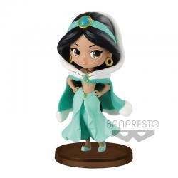 Figura Jasmine Winter Aladdin Disney Q Posket 7cm - Imagen 1