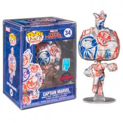 Figura POP Patriotic Age Captain Marvel Exclusive - Imagen 1