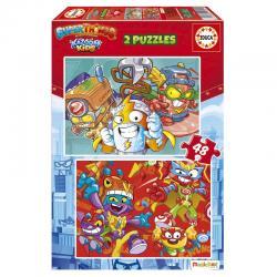 Puzzle Superzings 2x48pzs - Imagen 1