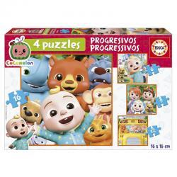 Puzzle progresivo Cocomelon 6-9-12-16pzs - Imagen 1