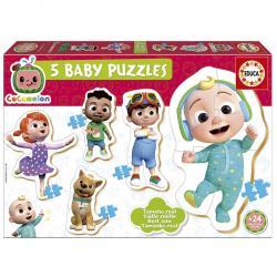 5 Baby Puzzles Cocomelon - Imagen 1