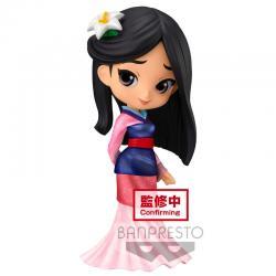 Figura Mulan Glitter line Disney Charecters Q posket 14cm - Imagen 1