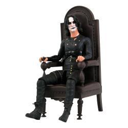 El Cuervo Figura Deluxe Eric Draven in Chair SDCC 2021 Exclusive 18 cm - Imagen 1