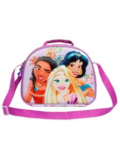 Bolsa portameriendas 3D Fairytale Princesas Disney 31cm - Imagen 1