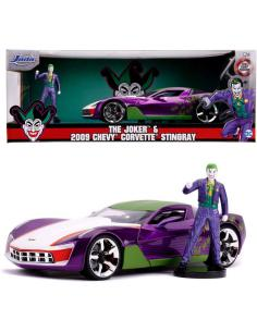 Set figura + coche Chevy Corvette Stingray 2009 Joker DC comics - Imagen 1