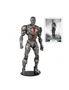 DC Justice League Movie Figura Cyborg (Helmet) 18 cm - Imagen 1