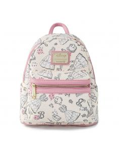 Disney by Loungefly Mochila Beauty and the Beast Belle Creme AOP heo Exclusive - Imagen 1