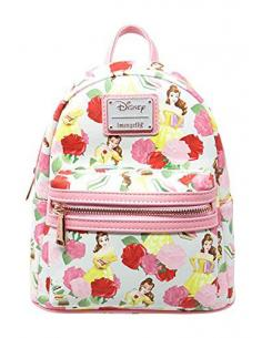 Disney by Loungefly Mochila Beauty and the Beast Belle Rose AOP heo Exclusive - Imagen 1