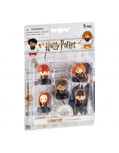 Harry Potter Pack de 5 Sellos Wizarding World Set A 4 cm - Imagen 1